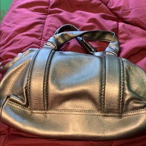 Pewter satchel by Cole Haan